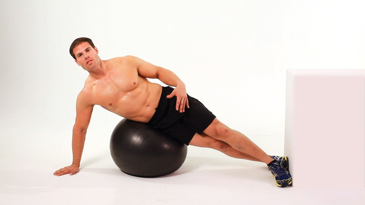 How to Do Side Crunch on Exercise Ball
