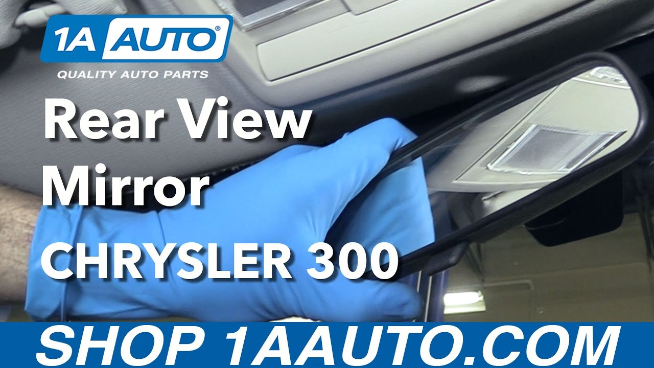 How To Fix Rear View Mirror >> How to Replace Rear View Mirror 05-10 Chrysler 300 - YouTube