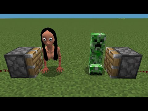 WHAT If MOMO + CREEPER In MINECRAFT ??