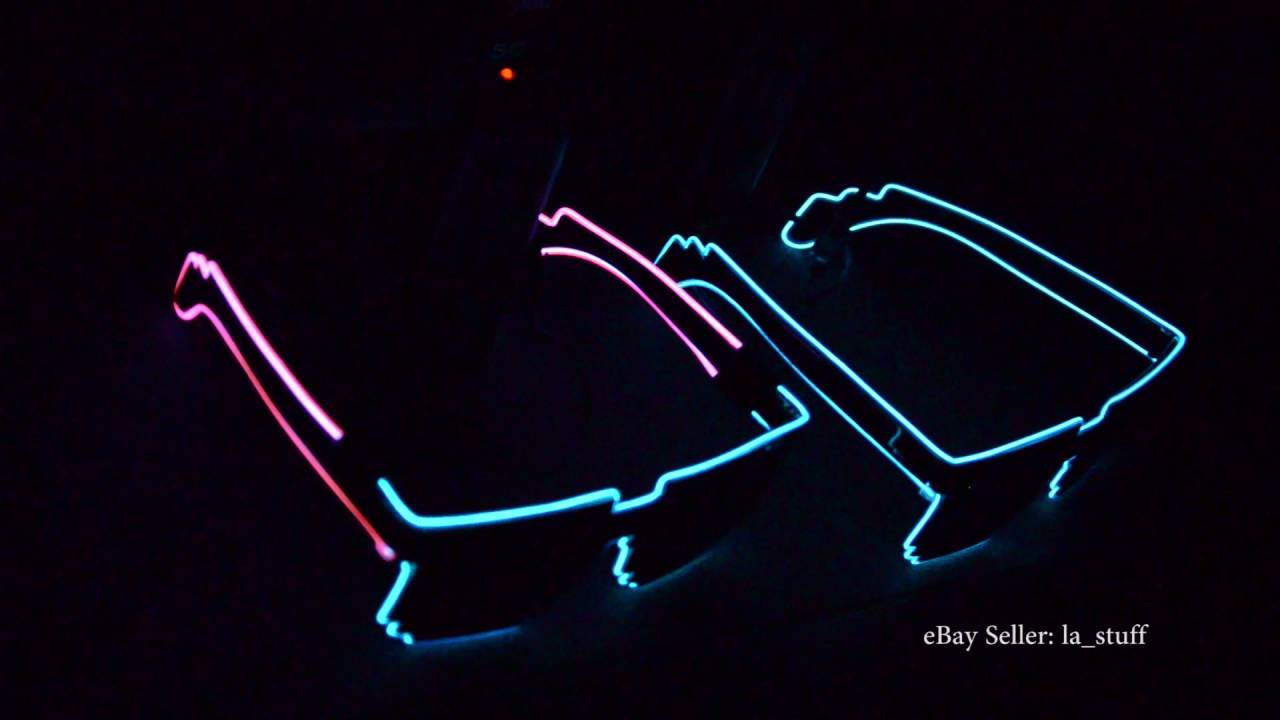 Sound Activated Sunglasses -Rave EL Wire Glasses -LED Glasses- Glow ...
