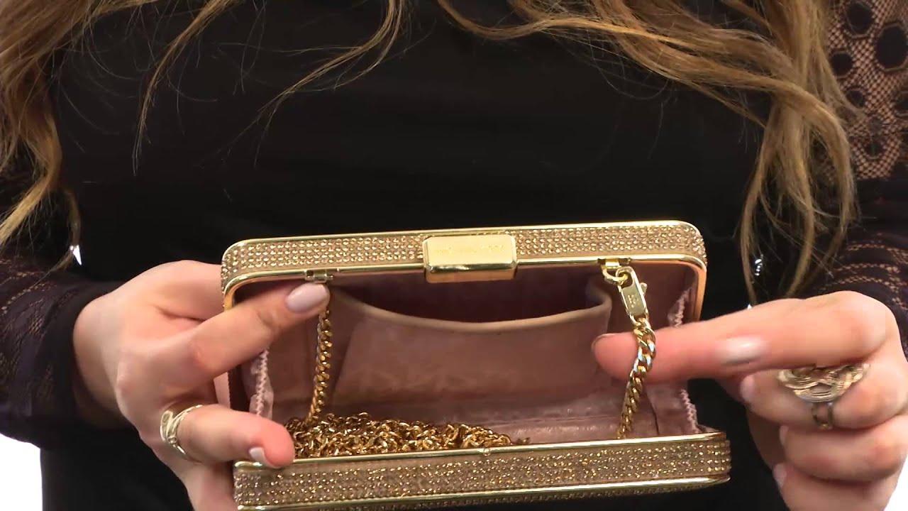 e9bcc6eeefc8 michael kors elsie quilted box clutch bag black crossbody bags sale ...