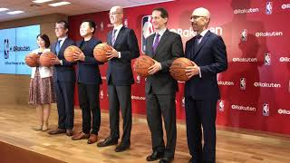 Rakuten CEO and NBA commissioner announce media partnership for Japan [RAW VIDEO]