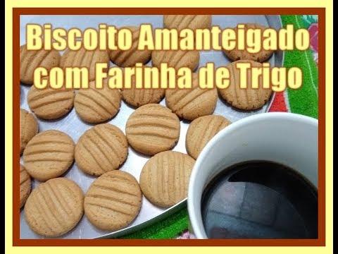 Biscoito Amanteigado De Farinha De Trigo - Apenas 3 Ingredientes