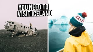 This is WHY you should visit ICELAND | Glacier Lagoon, Diamond Beach & Plane Crash