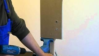 Bohren in Fliese und Dübelmontage für die Leichtbauwand