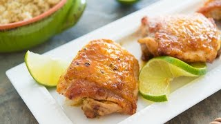 Sticky Honey Lime Chicken Recipe {quick & easy}