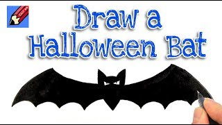 How to Draw a Halloween Bat Real Easy Step by Step