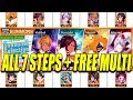 STEP-UP SUMMONS ALL 7 STEPS + FREE MULTI SUMMON GOLDEN WEEK Bleach Brave Souls