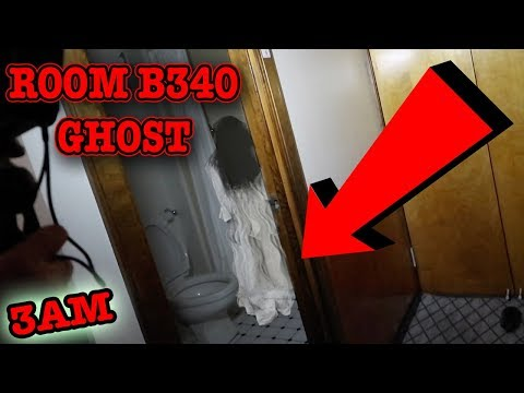 (REAL GHOST FOOTAGE) QUEEN MARY ROOM B340 GHOST CAUGHT OPENING DOOR ON CAMERA [DISTURBING]