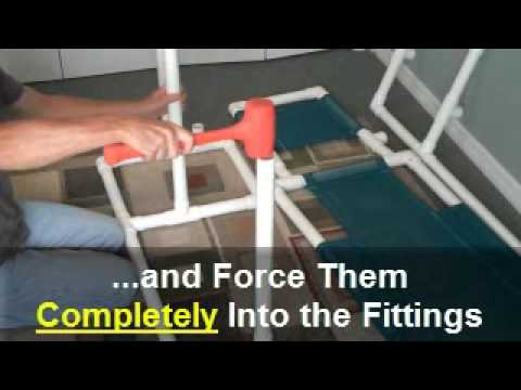 Pvc Pipe Chaise Lounge Assembly  Youtube