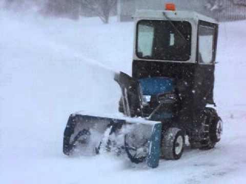 Ford garden tractor with snowblower YouTube