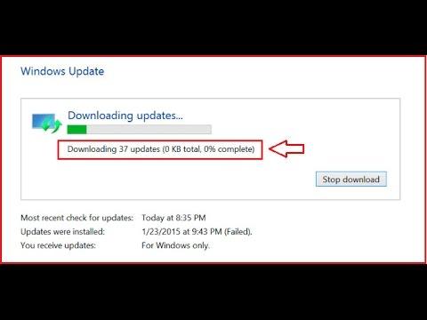 How to Fix Windows Update Stuck On 0% in Windows 10/8 1/7