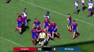 2019 Harold Matthews Grand Final Newcastle Knights v Canterbury Bulldogs Second Half