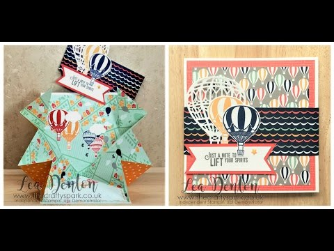Lift Me Up & Carried Away Explosion Card Tutorial from Stampin' Up! Demonstrator Lea Denton