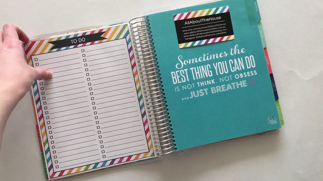 free printable to do list planner insert for erin condren life planner or other planners