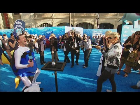 Thumbnail: Fun from the 'Finding Dory' Blue Carpet