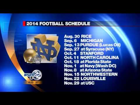 Notre Dame football schedule released