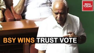 BS Yeddyurappa Wins Trust Vote In Assembly Via Voice Vote | Watch Live