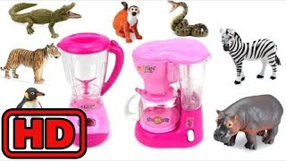 Kid -Kids -Surprise Animal Toys In Pretend Play Kitchen Toy Appliances Blender And Kitchen Aid/Kids