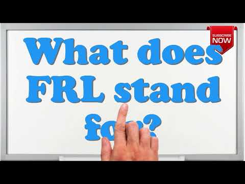 What is the full form of FRL?