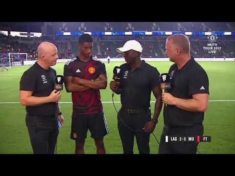 MUTV's Dwight Yorke was full of praise for Marcus Rashford after his two-goal display tonight