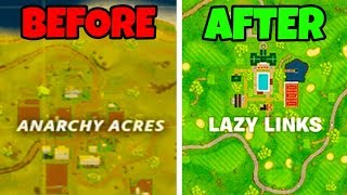 *NEW* ALL SEASON 5 MAP CHANGES for FORTNITE! Season 5 NEW Map Showcase! (Fortnite Battle Royale)
