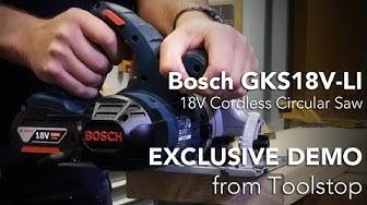 Bosch GKS18V LI 18V Li ion Cordless Circular Saw
