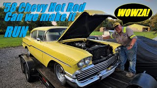 Will my Uncle's 1958 Chevy Biscayne Run after YEARS of Neglect?! pt. 2