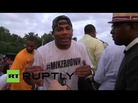 USA: Watch rapper Nelly preach peace at Ferguson rally
