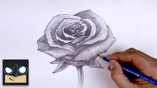 How To Draw A Rose | Beginner's Sketch Tutorial