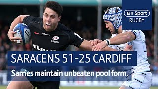 Saracens vs Cardiff Blues (51-25) | Heineken Champions Cup Highlights