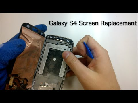 Galaxy S4 Display Replacement   Removal from mid-frame - YouTube