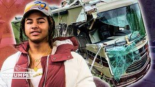 24kGoldn Tells Insane Tour Bus Crash Story From Tour With Landon Cube