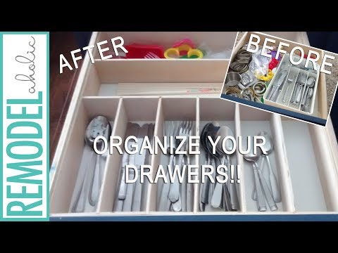 DIY Kitchen Drawer Organizer; Easy Woodworking Project