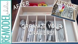 DIY Kitchen Drawer Organizer; Easy Woodworking Project