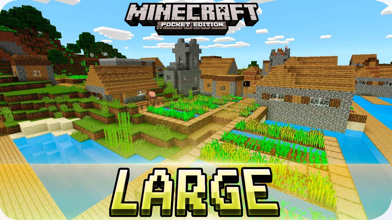 Minecraft PE Seeds - Large Village and Savanna Mountains Seed! 0 16 0 /  0 15 0 MCPE