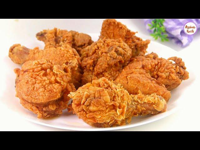 ডিম/বাটারমিল্ক ছাড়াই ঘরে থাকা সাধারণ কিছু উপকরণ দিয়ে ক্রিস্পি ফ্রায়েড চিকেন|KFC fried Chicken Recipe