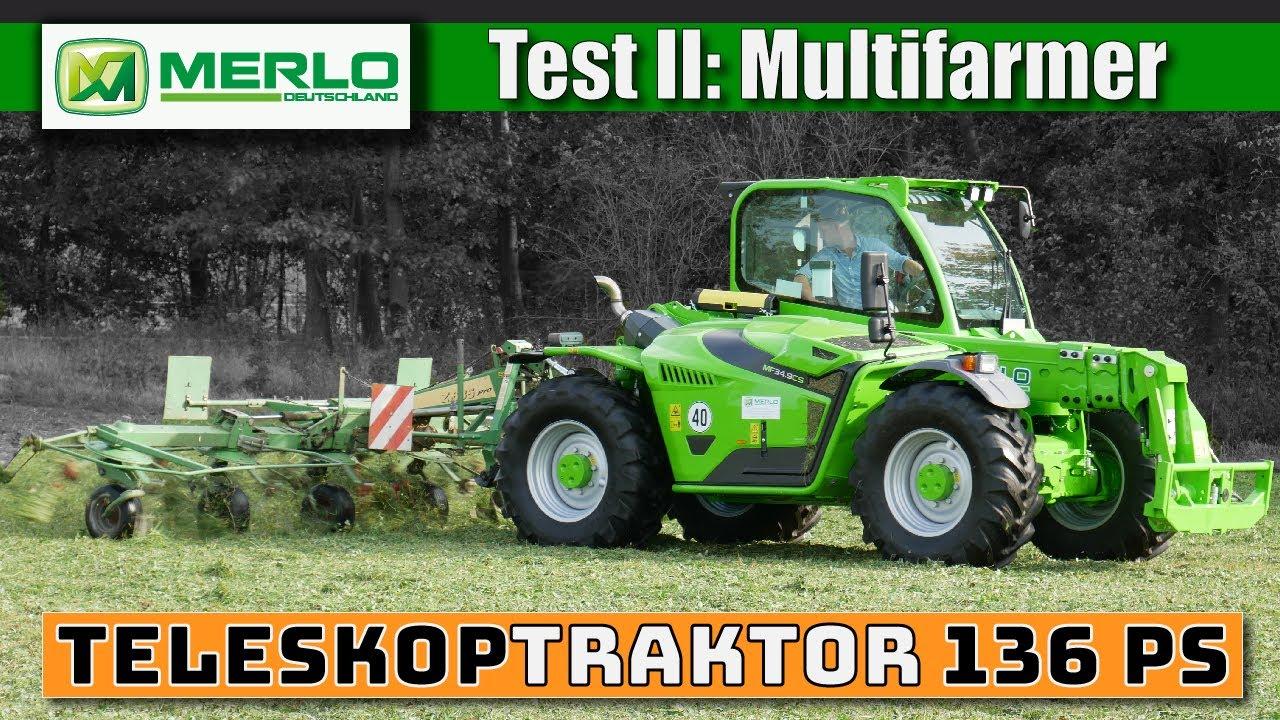 Test II: Wie viel Traktor steckt im Multifarmer? (Grasernte mit Teleskoplader)