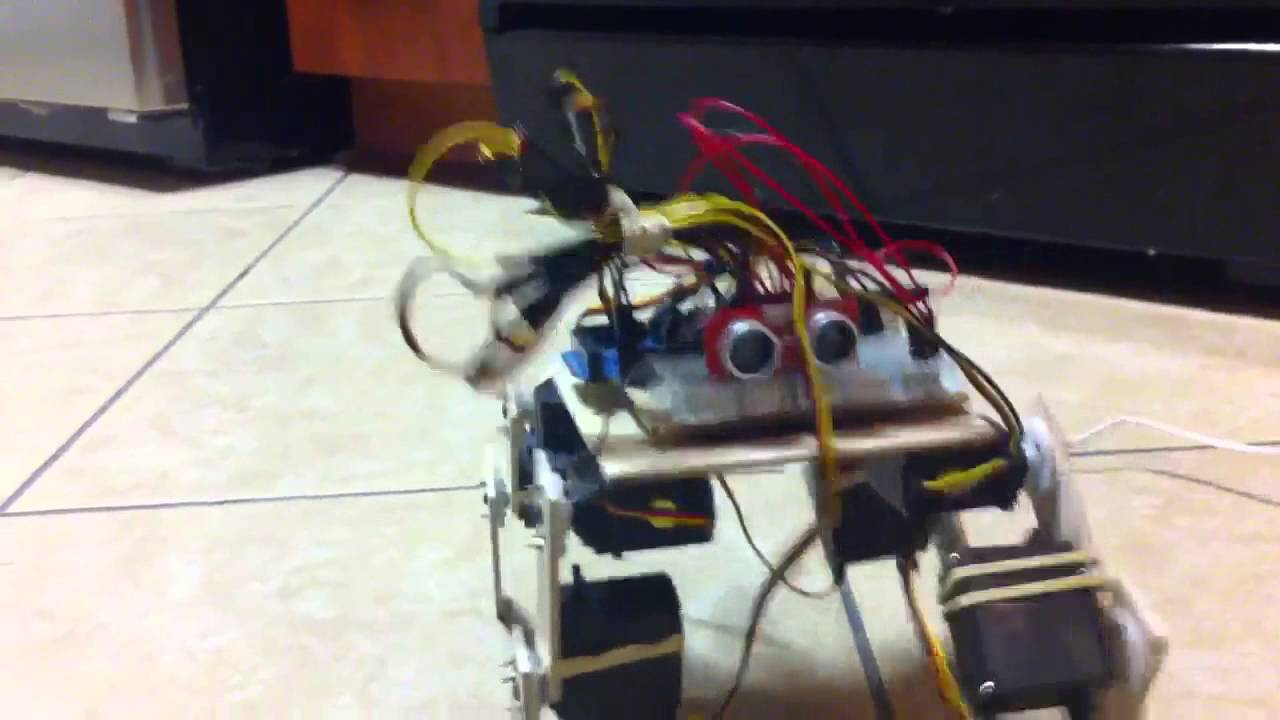 Robot cat first steps arduino mega youtube