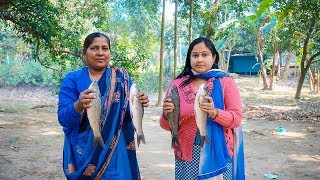 Two Cooking Recipe - Healthy Vegetable Curry & Fish Curry in Village by Mom   Village Food Facto