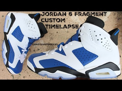 Jordan 6 Fragment Custom Full Tutorial Timelapse