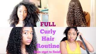 FULL Curly Hair Routine: From Start to Finish (Updated)