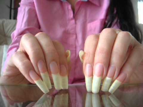 Great natural long fingernails of mamita (video 14) - YouTube