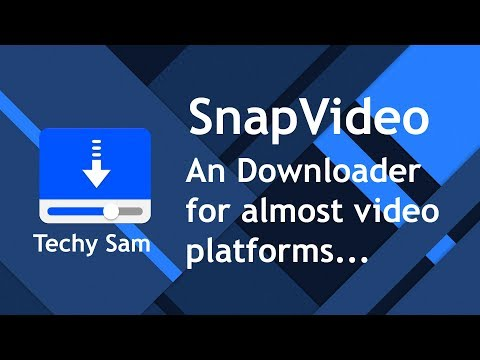SnapVideo - A Free Downloader For Facebook, Youtube, Vimeo, Dailymotion And More..