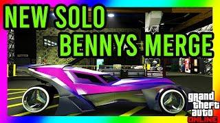 SOLO BENNYS MERGE GLITCH!! *CAR TO CAR* UPDATED METHOD!! SUPER EASY TO DO!! GTA 5 BENNYS MERGE
