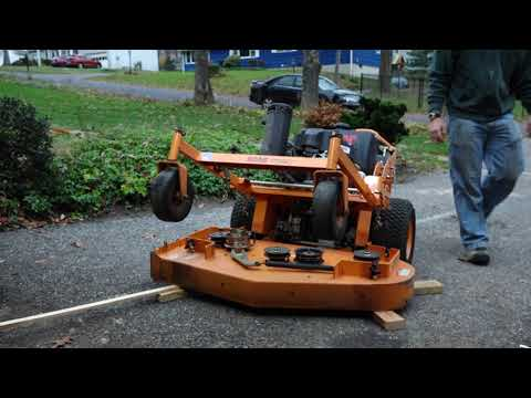 How to Remove Mower Deck and Wash Deck and Mower: Scag SWZT