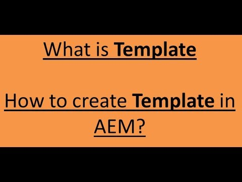 what is a template
