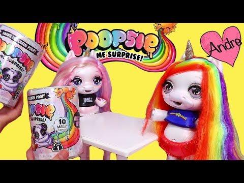 La muñeca bebé unicornio Arco Iris hace slime | Muñecas y juguetes con Andre para niñas y niños