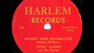 Watch Stick Mcghee Drinkin Wine Spodeeodee video
