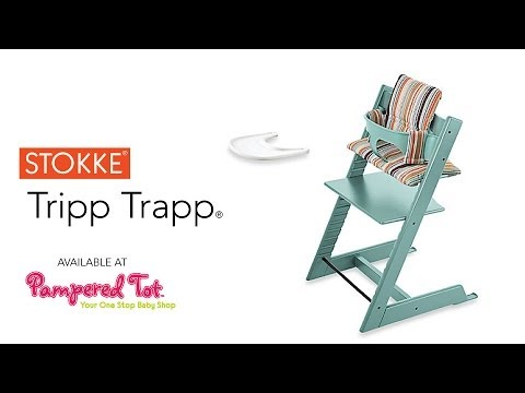 Using the Stokke Tripp Trapp High Chair by Pampred Tot sometimes called the Stokke Trapp Tripp